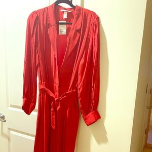 Red Satin jumpsuit- H&M never worn.